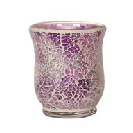 Hurricane Tealight Holder - Purple Crackle