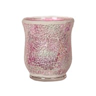 Hurricane Tealight Holder - Pink Crackle