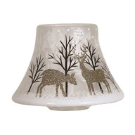 Gold Reindeer Candle Jar Lamp Shade16cm