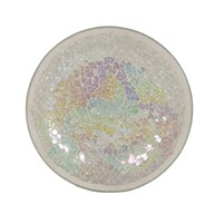 Candle Plate - Pearl Crackle