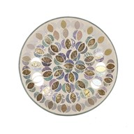 Candle Plate - Gold & Silver Moon