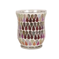 Hurricane Tealight Holder - Red Shimmer