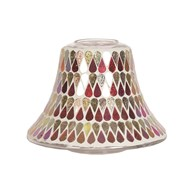 Candle Jar Lamp Shade - Red Shimmer