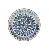 Candle Plate - Blue Shimmer