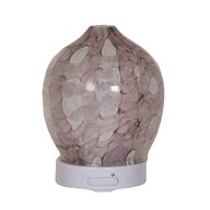 LED Ultrasonic Diffuser - Pink Art Glass
