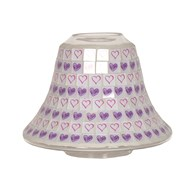 Candle Jar Lamp - Lilac Heart