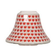 Candle Jar Lamp - Red Heart