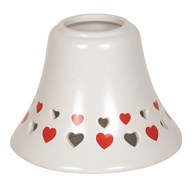 Ceramic Candle Jar Lamp Shade - Red Heart