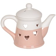 Teapot Wax Melt Burner - Pink Heart