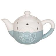 Teapot Wax Melt Burner - Home Sweet Home Blue