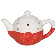 Teapot Wax Melt Burner - Home Sweet Home Red