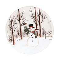 Candle Plate - Snowman