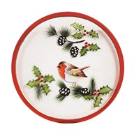 Candle Plate - Robin