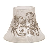 Candle Jar Lamp - Gold Scroll