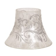 Candle Jar Lamp - Silver Scroll
