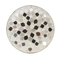 Candle Plate - Pearl & Silver
