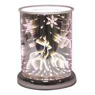 Cylinder 3D Electric Wax Melt Burner - Reindeer