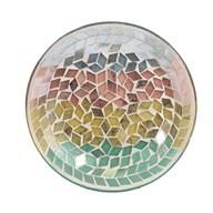 Candle Plate - Diamond Tricolour
