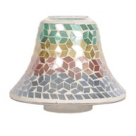 Candle Jar Lamp - Diamond Tricolour