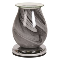 Touch Electric Wax Melt Burner - Grey Swirl Oval