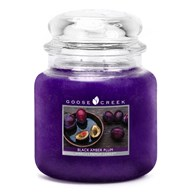 Black Amber Plum Goose Creek 16oz Scented Candle Jar