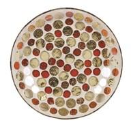 Golden Circles Candleplate 16cm