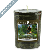 Cabin in the Woods Goose Creek Scented Votive