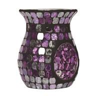 Purple Foil Metallic Mosaic Wax Melt Burner 14cm