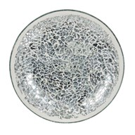Candle Plate - Silver Lustre Mosaic