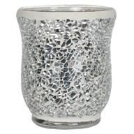 Hurricane Tealight Holder - Silver Lustre Mosaic