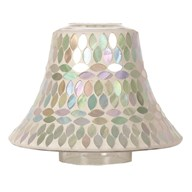 Candle Jar Lamp Shade - Aqua Pearl