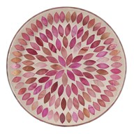 Candle Plate - Pink Petals