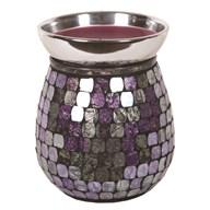 Purple Foil Metallic Mosaic Electric Wax Melt Burner 14cm