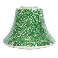 Green Lustre Crackle Mosaic Candle Jar Lamp Shade 16cm