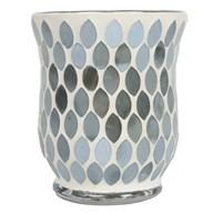 Pearlescent Grey Lustre Mosaic Hurricane 11cm