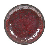 Red Lustre Crackle Mosaic Candleplate 16cm