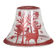 Red Reindeer Candle Jar Lamp Shade 16cm