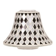 Black & White Diamond Candle Jar Lamp Shade 16cm