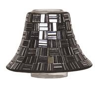 Liquorice Squares Mosaic Candle Jar Lamp Shade 16cm