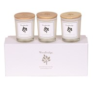 Woodbridge Lychee & Redcurrant Set of 3 Soy Candles