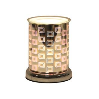 Cylinder 3D Electric Wax Melt Burner - Squares