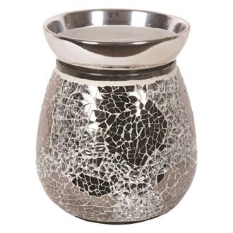 Electric Wax Melt Burner - Silver Crackle