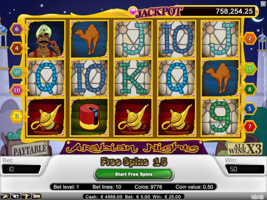 Arabian Nights kolikkopeli