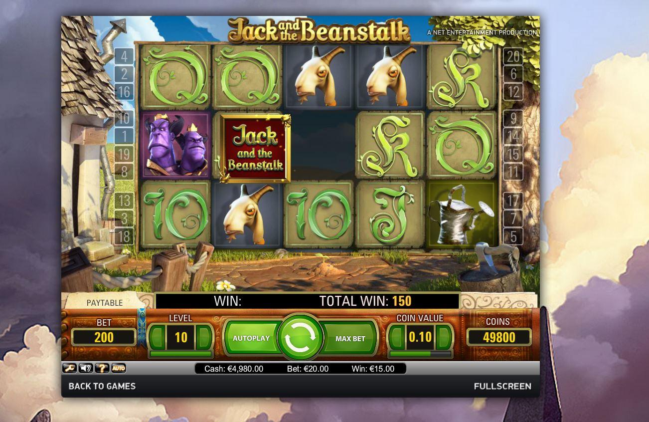 jack and the beanstalk kolikkopeli