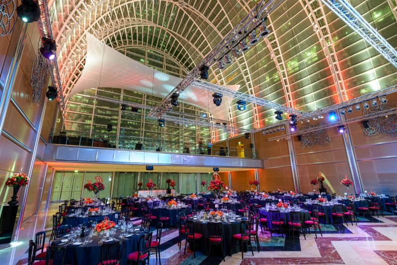 East Wintergarden | Gala dinner venues London | Venue Finding | Free venue finding service | Venue Hire London