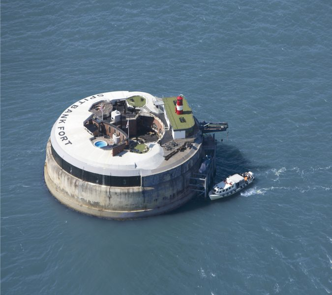 Spitbank Fort - From the Air