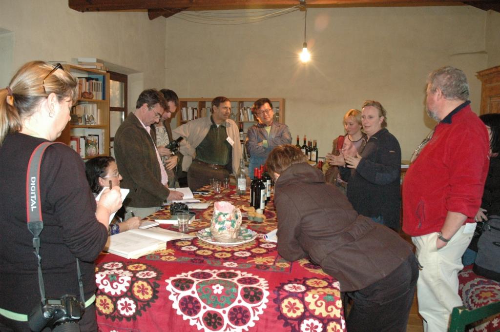 Vinprovning hemma hos Nicoletta Bocca på San Fereolo