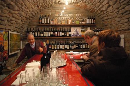 Vinotek i staden Dogliani