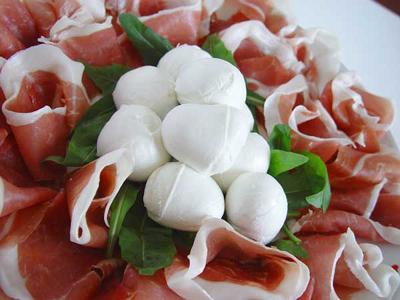 Mozzarella-prosciutto