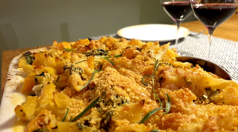 Vinbanken-recept-vintips-pastagratang-spenat-butternutpumpa